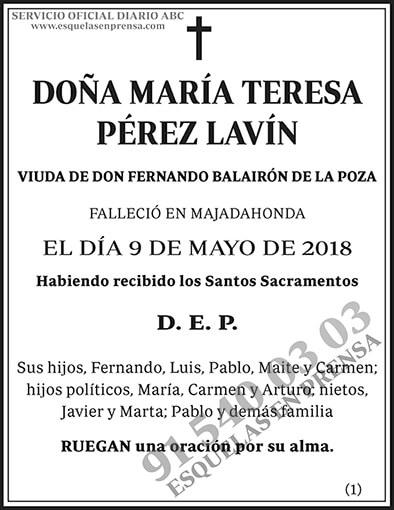 María Teresa Pérez Lavín